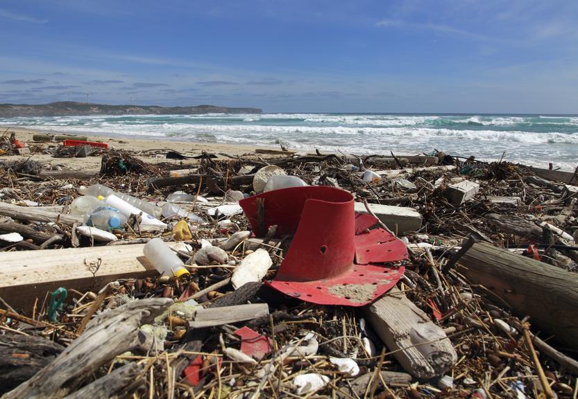 Müll an der Küste